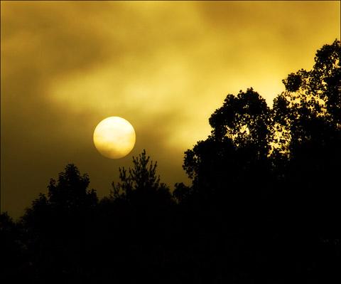 Sun Rises over Goose Creek ~ August 2007