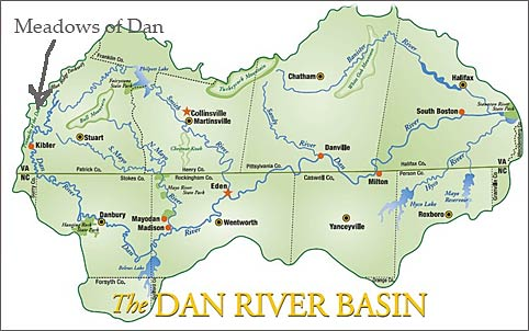 Dan River Basin Map