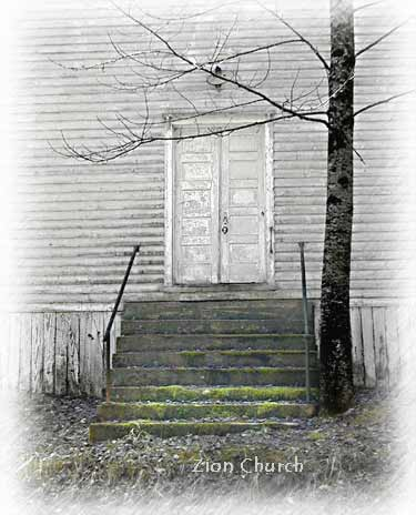 Another Zion Church, neglected, on Goose Creek