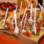 bicchierini di feta light pomodorini e rucola