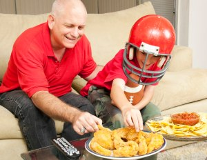 Football fans and food