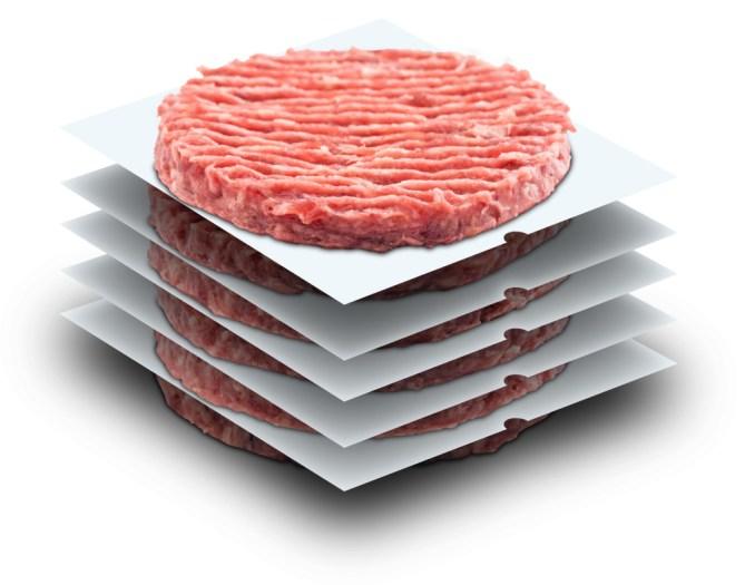 Hamburger patty paper