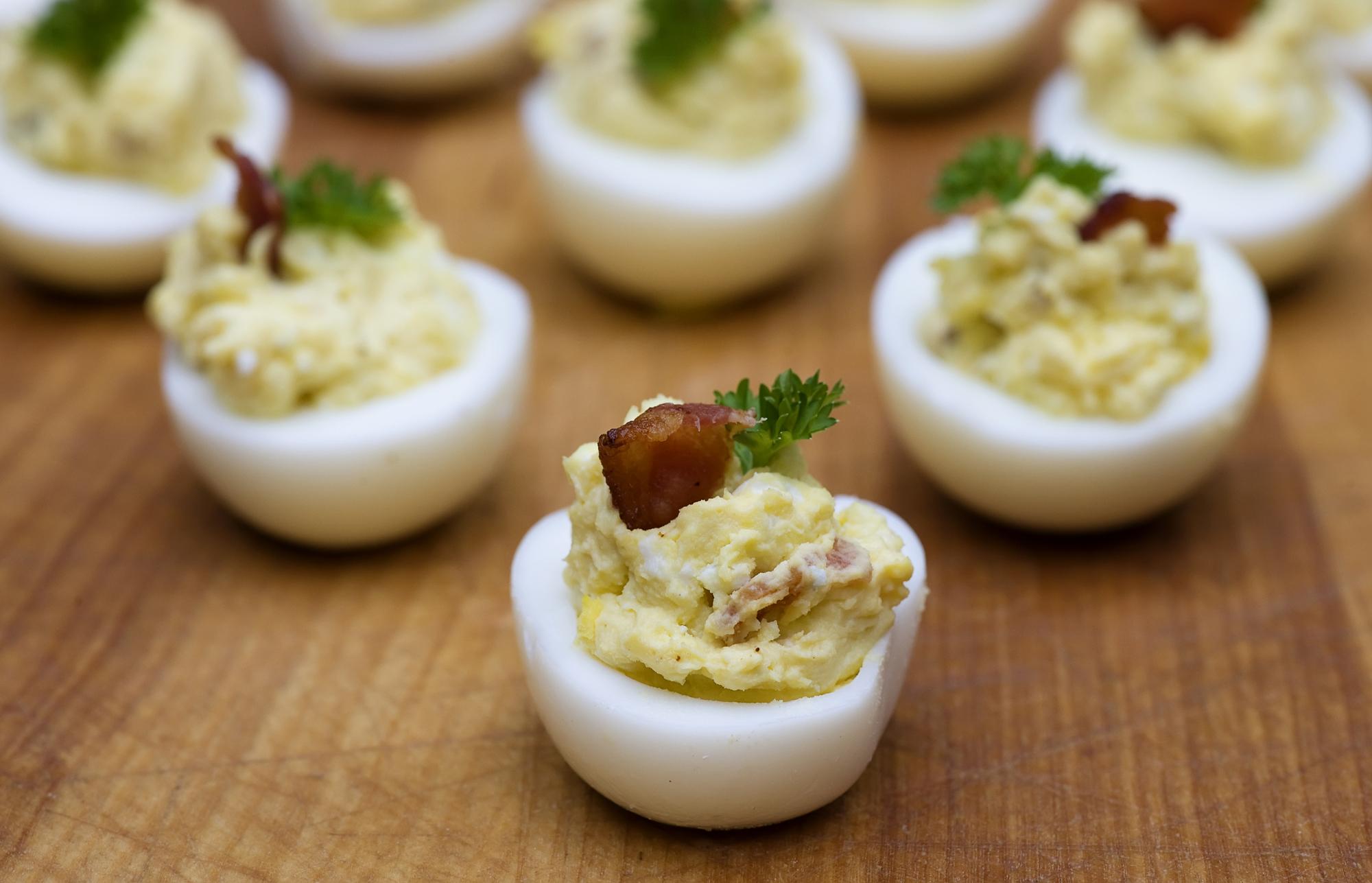 bacon blue cheese deviled eggs