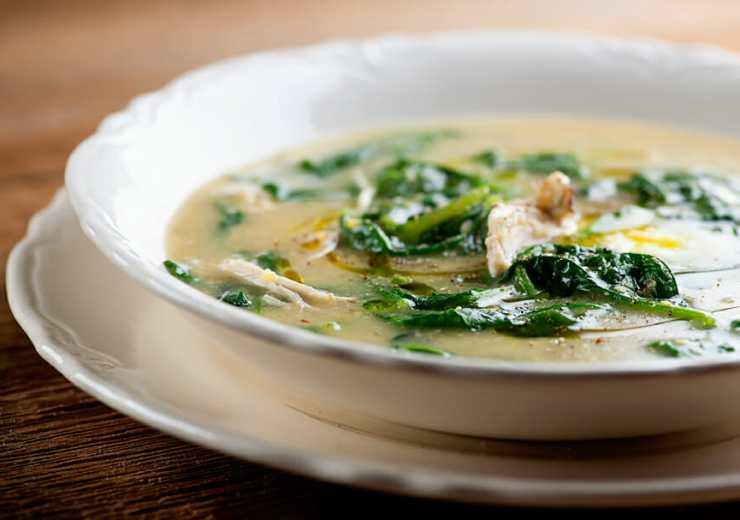 Parmesan Polenta Chicken Soup