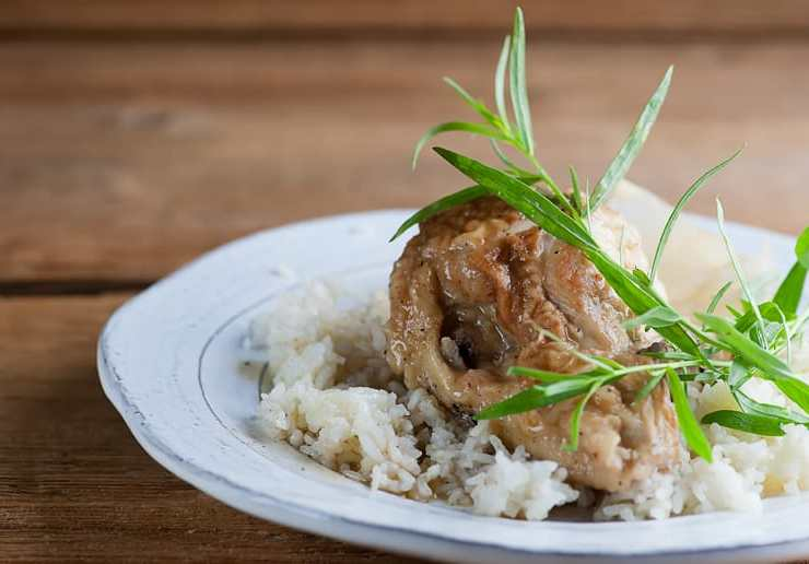 sweet wine chicken and rice