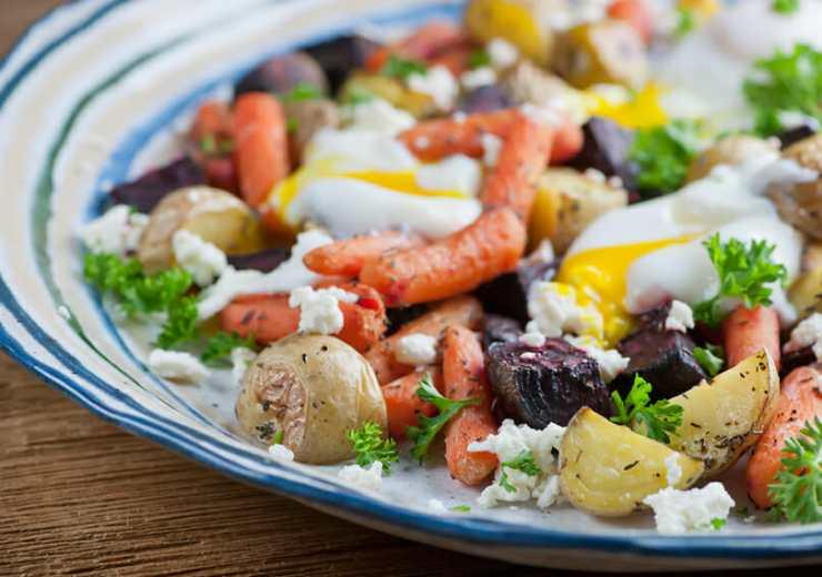 roasted vegetable egg salad