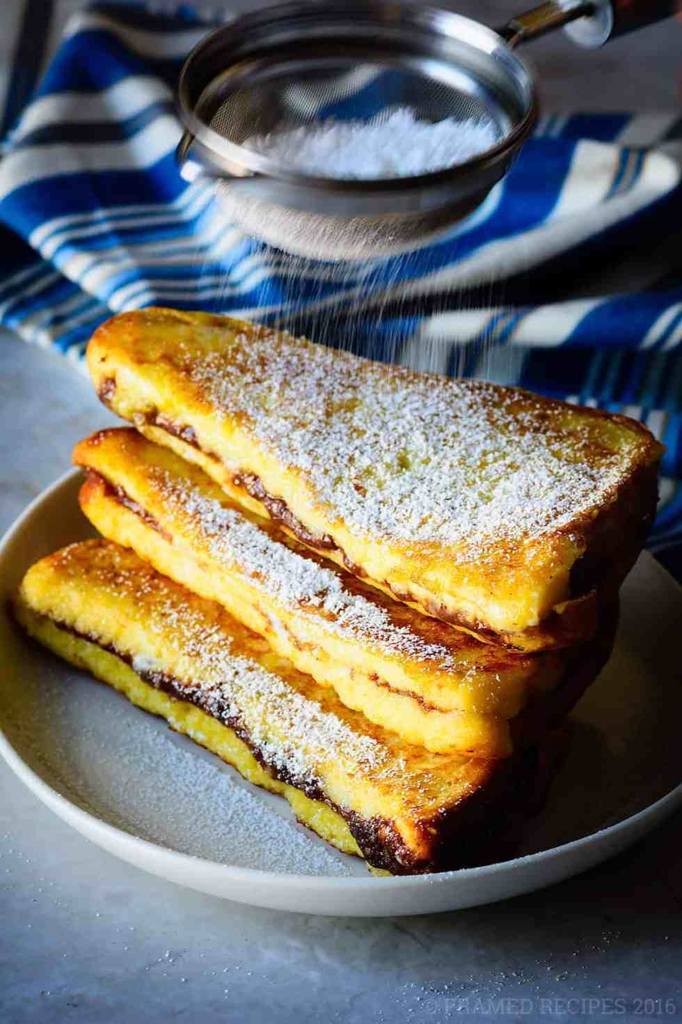 Nutella Cream Cheese French Toast