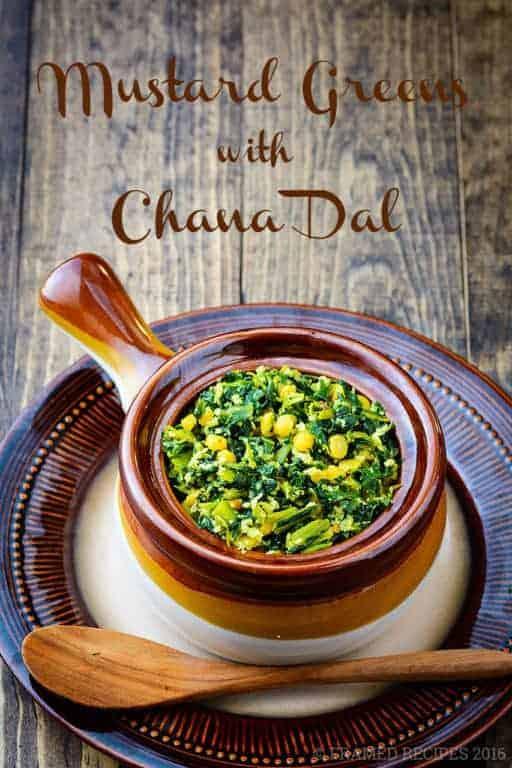 Mustard Greens With Chana Dal