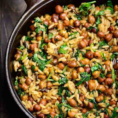 wild rice with garbanzo beans