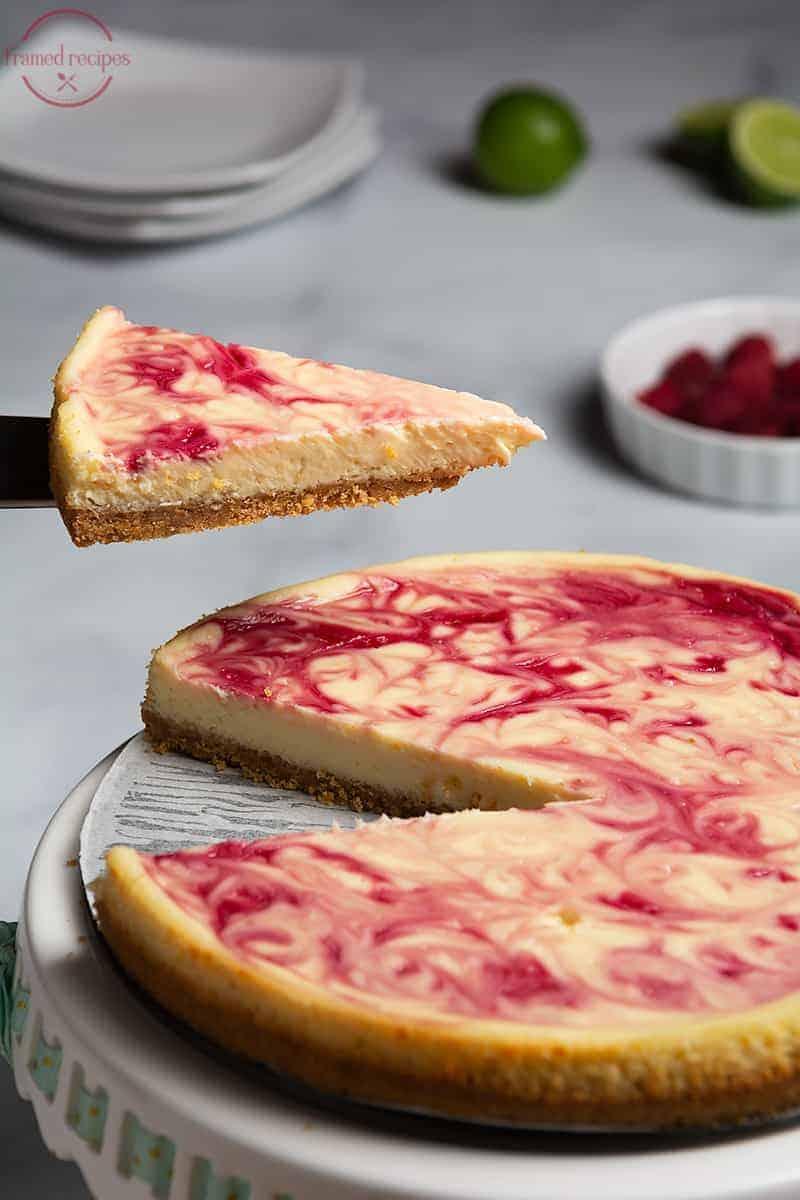 slice of baked cheesecake