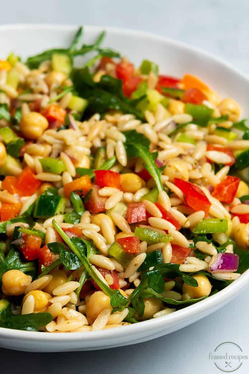 vegan cold orzo salad
