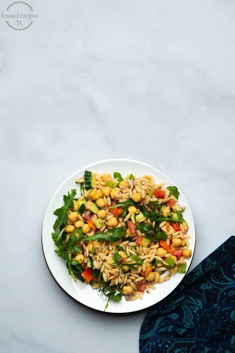 orzo garbanzo beans salad