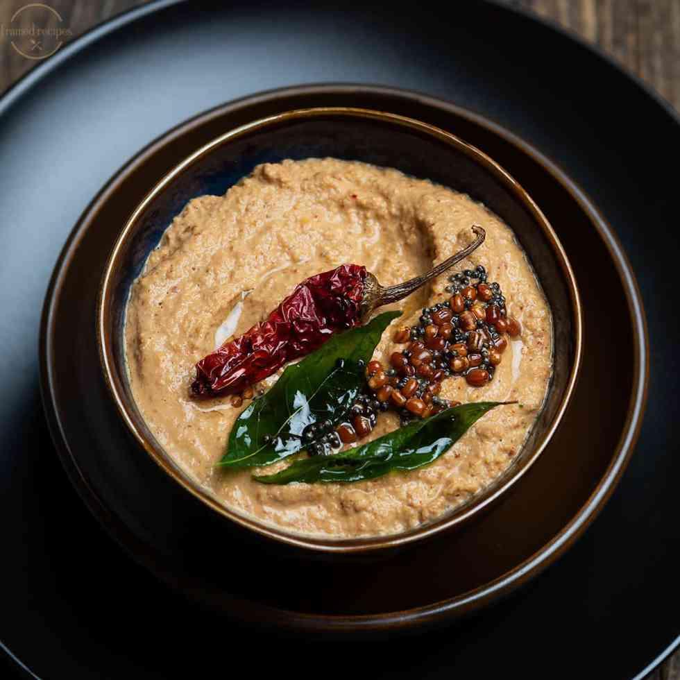 spicy peanut chutney for idli & dosa