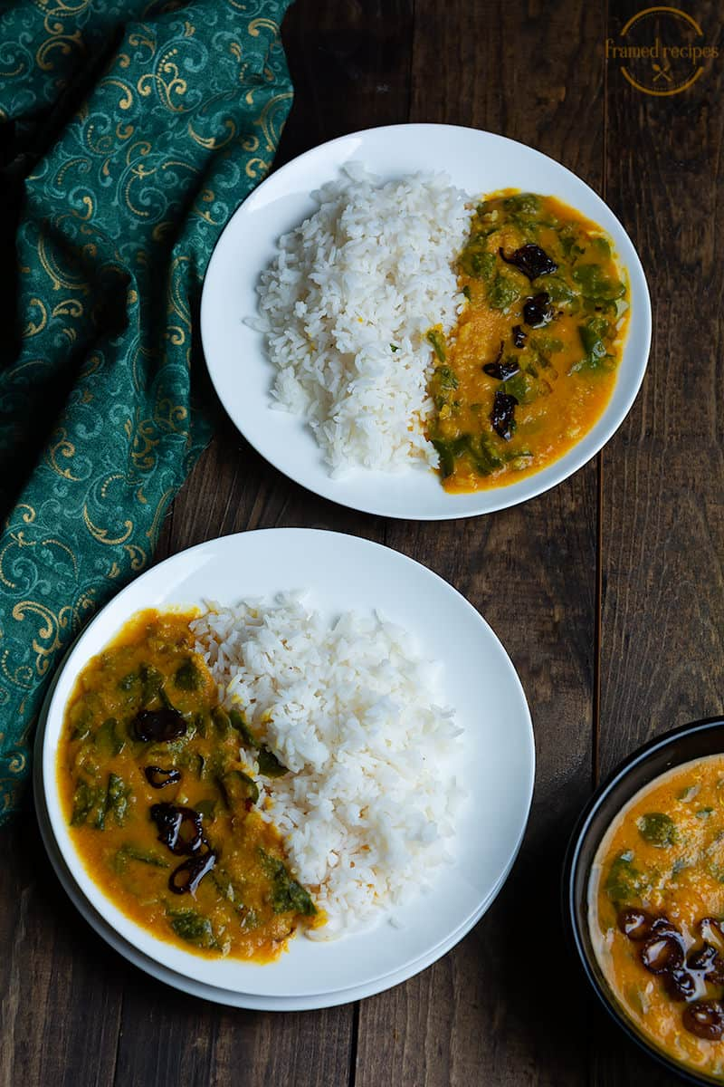 muringalyila erissery served with rice