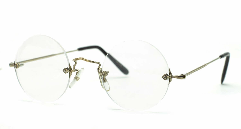 Savile Row 18kt Diaflex Round Steve Jobs Eyeglasses