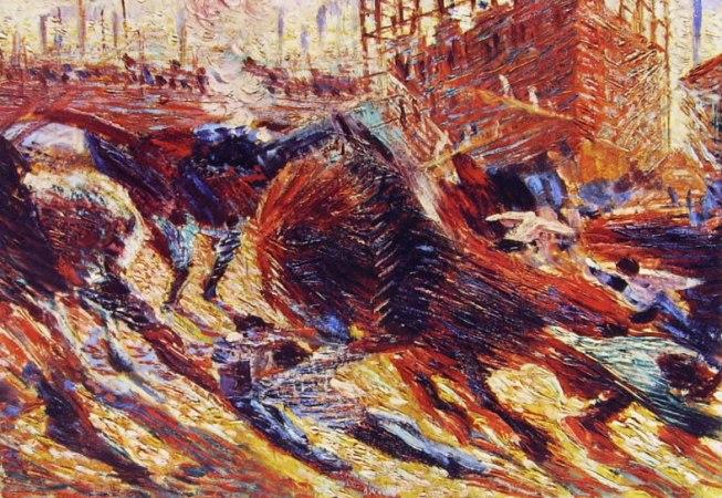 La città che sale (abbozzo) cm. 33 x 47 Collezione Mattioli Milano