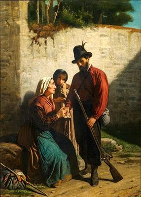 Ignazio Affanni - La partenza del garibaldino