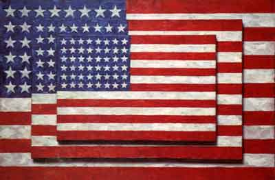 Jasper Johns - Tre bandiere