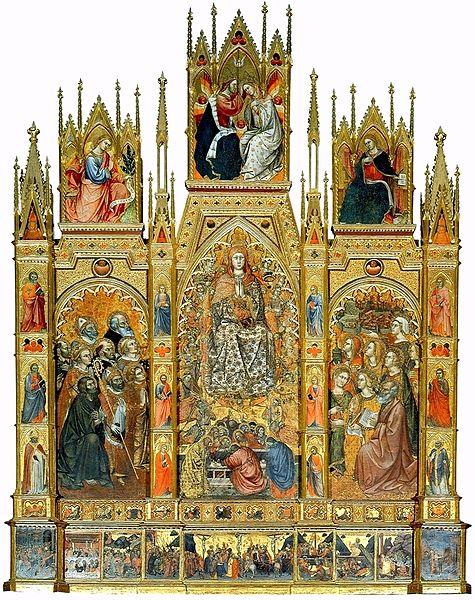 Trittico con l'Assunzione della Vergine