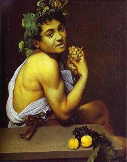 Bacchino malato 1593, Galleria Borghese, Roma.
