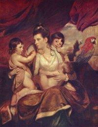 Reynoids: Lady cockburn con tre dei suoi figli