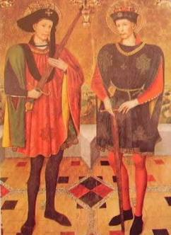Retablo dei santi Adone e sonen: Jaime Huguet, 1459, Tarrasa Museo di S. Maria