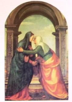 La visitazione: Mariotto _Albertinelli 1503, Uffizi di Firenze