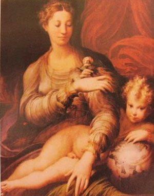 Madonna della rosa 1531, Parmigianino,