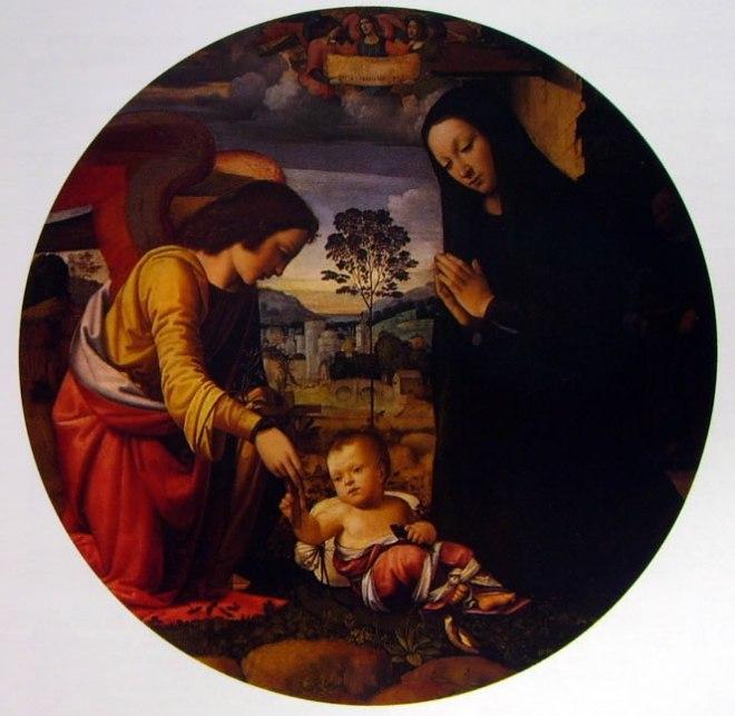 Mariotto Albertinelli: Adorazione del Bambino