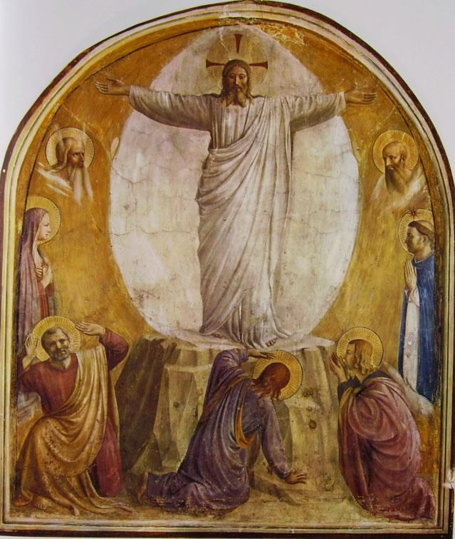 Beato Angelico: Affreschi di San Marco - Trasfigurazione