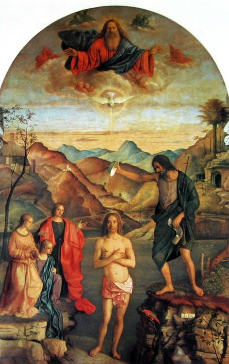 Giovanni Bellini: Il battesimo di Cristo
