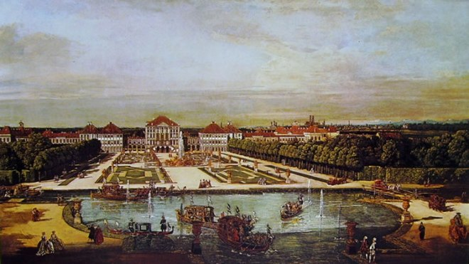 Bellotto: Monaco di Baviera - il castello di Nymphenburg da ovest