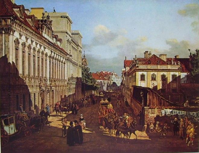 Bellotto: Varsavia - via Miodowa, da sud-est verso nord-oves
