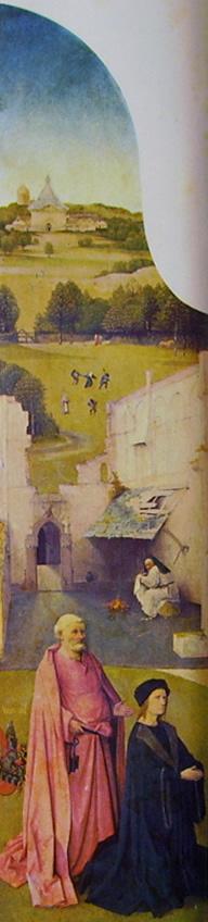 Hieronymus Bosch: Trittico dell'Epifania - San Pietro e il donatore
