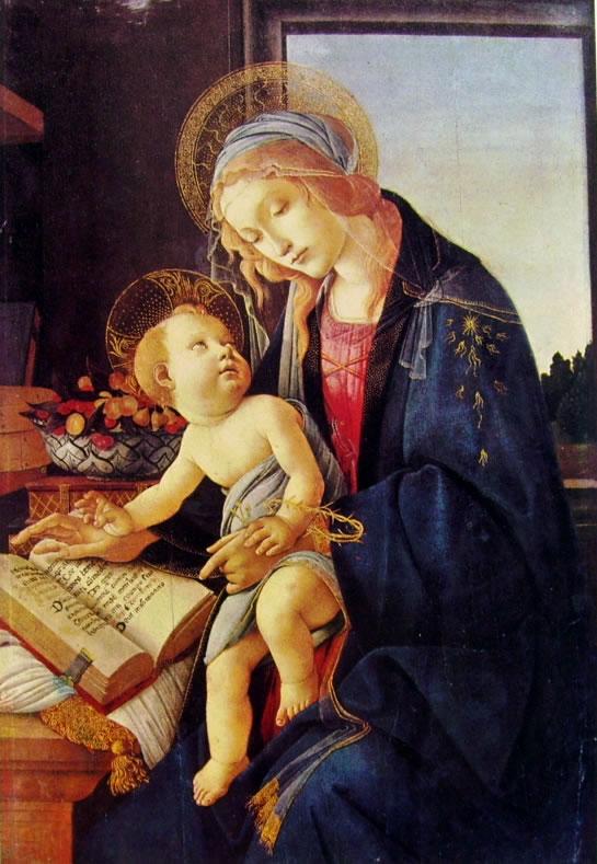 Il Botticelli: Madonna del libro