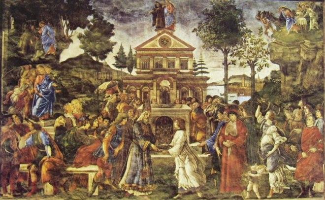 """""""Prove di Cristo"""" del Botticelli nella Cappella Sistina"""