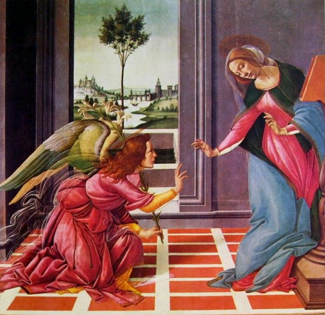Il Botticelli: L'annunciazione