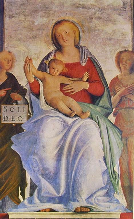 Bramantino: Madonna con due angeli