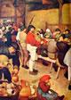 22 Bruegel - Particolare parte sinistra del banchetto nuziale