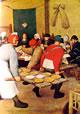 23 Bruegel - Particolare parte destra del banchetto nuziale