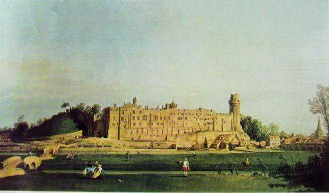 Il Canaletto: Prospetto sud di Warwick Castle