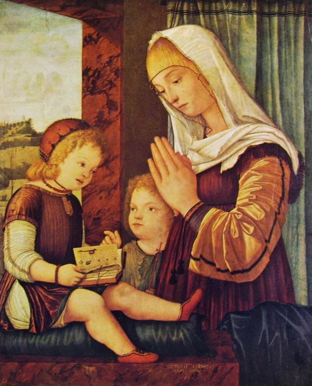 Carpaccio: Madonna e San Giovannino in adorazione del Bambino