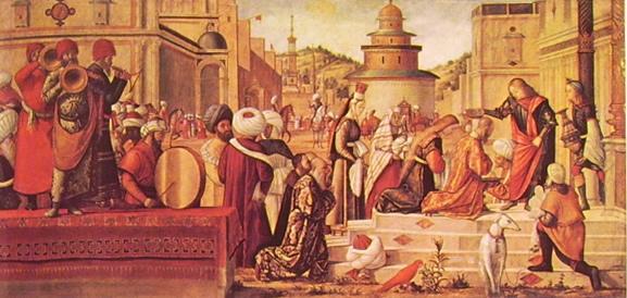 Carpaccio: Il battesimo dei seleniti a opera di S. Giorgio