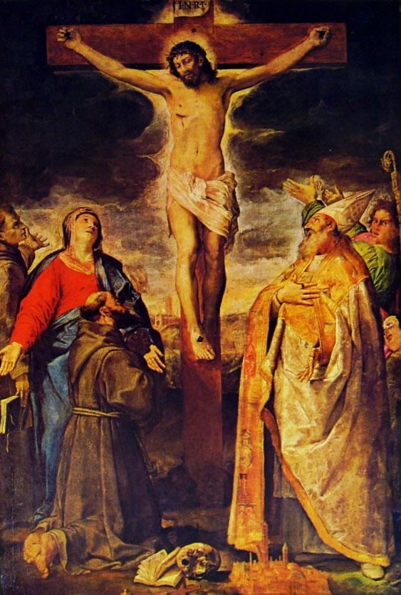 Annibale Carracci: Crocifissione e Santi
