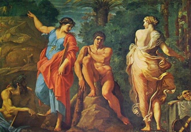 Annibale Carracci: Il camerino Farnese: Ercole al bivio