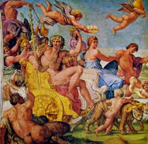 Trionfo di Bacco e Arianna: lato a sinistra
