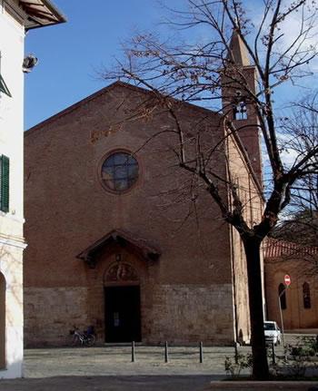 Facciata della chiesa di S. Francesco a Grosseto