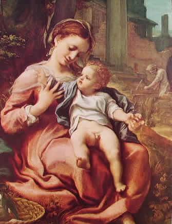 Correggio - La Madonna della cesta