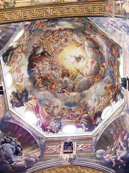 Affreschi nel duomo di Parma: L'Assunzione della Vergine, veduta complessiva