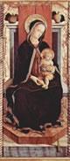 Carlo Crivelli: Polittico di Massa Fermana - Madonna col bambino in trono